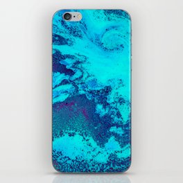 Electric Blue and Magenta Swirl (Color) iPhone Skin
