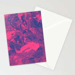 Pink and purple lava Marble aqrylic Liquid paint art Stationery Cards