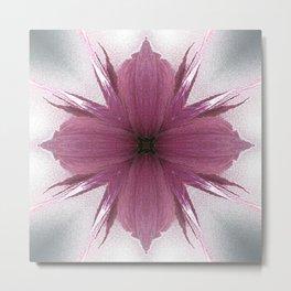 Pink Windflower 4 Flowers Floral Metal Print