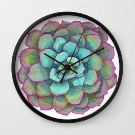 Sunset Succulent Wall Clock