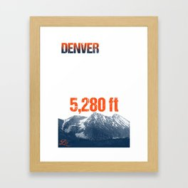 Cities Of America: Denver Framed Art Print