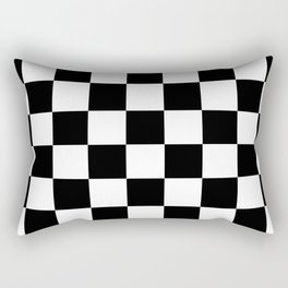 Checkered - White and Black Rectangular Pillow
