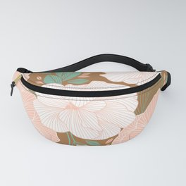 Peachy Pink Roses Fanny Pack