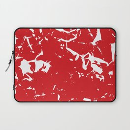 Abstract art red Laptop Sleeve
