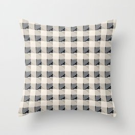 ANTHOLOGY OF PATTERN SEVILLE GINGHAM BLACK Throw Pillow