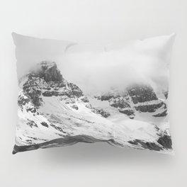 Mountain Minimalism Glacier Alberta | Black and White Photography Pillow Sham