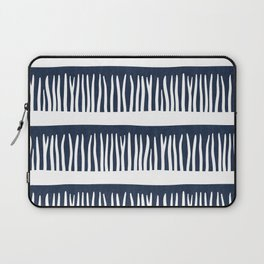 Abstract Blades of Grass in Navy Blue Laptop Sleeve