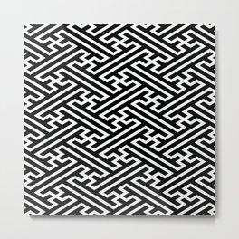 Isometric Sayagata Metal Print