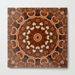 Copper kaleidoscope of colors II Metal Print