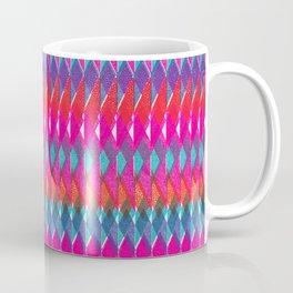 Shard Hand-Print Geometric - Bright Coffee Mug
