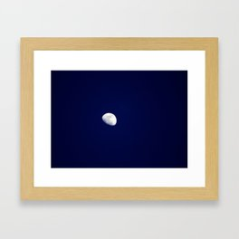 Blue Moon Blue Nights Framed Art Print