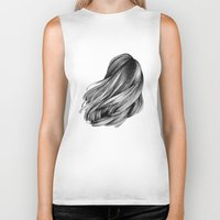 hair Biker Tanks featuring hair by Isabel Seliger