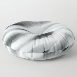 Northern Lights - Black And White Floor Pillow