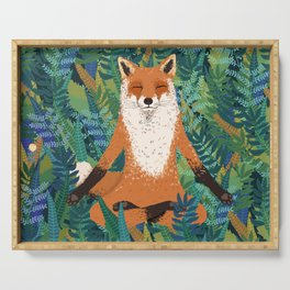 Fox Yoga Serving Tray
