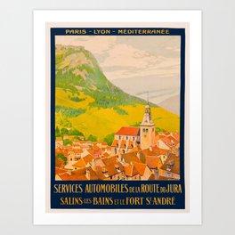 Vintage poster - Route du Jura, France Art Print
