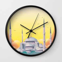 Mosque under the sun Wall Clock