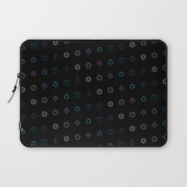 Dungeons and Dragons Aesthetic Dice Laptop Sleeve