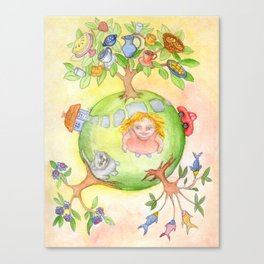 My holiday planet Canvas Print