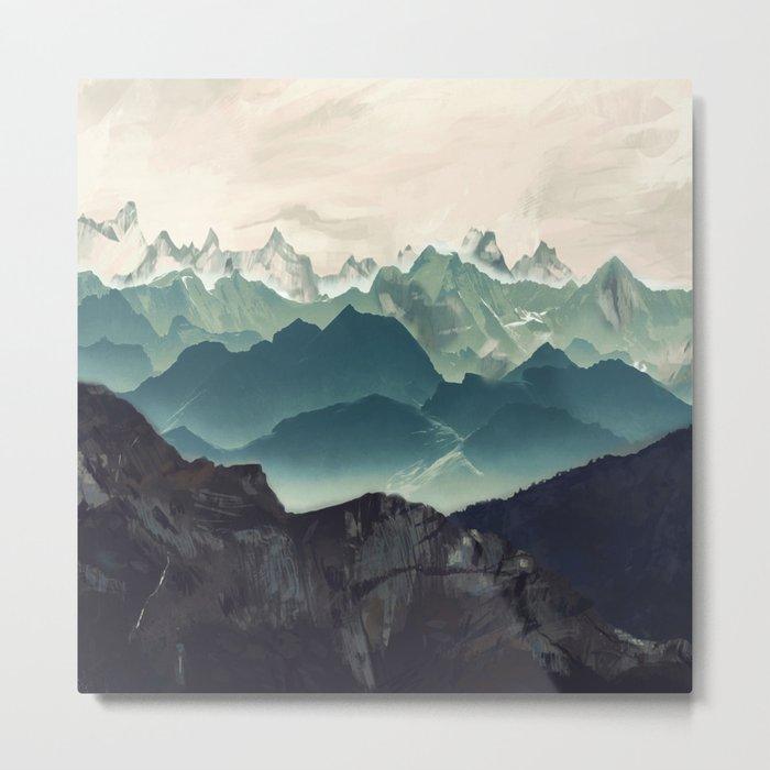 Shades of Mountain Metal Print