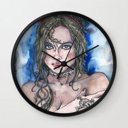 SKULLS and HEARTS Wall Clock