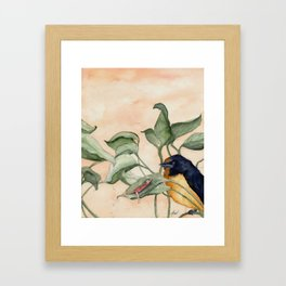 Thumbelina and the Swallow Framed Art Print