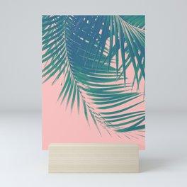 Palm Leaves Blush Summer Vibes #2 #tropical #decor #art #society6 Mini Art Print