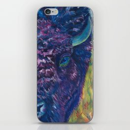 A Technicolor Bison iPhone Skin