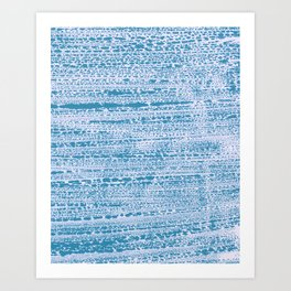 Blue Water Aqua Splash Beading Bouy Art Print