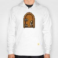door Hoodies featuring Door by HOVERFLYdesign
