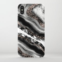 Agate Rose Gold Glitter Glam #3 #gem #decor #art #society6 iPhone Case