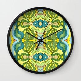 Lettuce Bloom Kaleidoscope Wall Clock