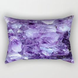 Amethyst Crystals Rectangular Pillow