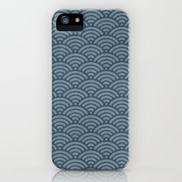 Blue Indigo Denim Waves iPhone Case