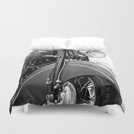 Motorcycle-B&W Duvet Cover