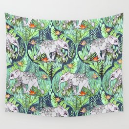 Little Elephant on a Jungle Adventure - faded vintage version Wall Tapestry