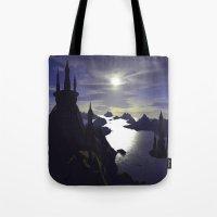 castle Tote Bags featuring castle by giancarlo lunardon