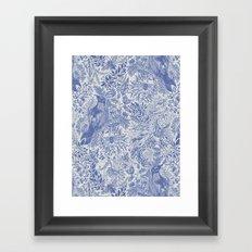 Crow Pattern Framed Art Print