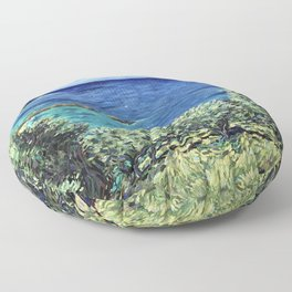 Olive Trees in Corfu Floor Pillow