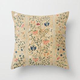 Uzbekistan Suzani Nim Embroidery Print Throw Pillow