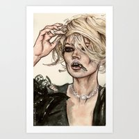 kate moss Art Prints featuring Kate Moss by vooce & kat