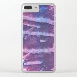 Purple blue Clear iPhone Case