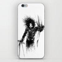 edward scissorhands iPhone & iPod Skins featuring Edward Scissorhands by Karbon-K