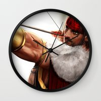 rogue Wall Clocks featuring Rogue by KlsteeleArt