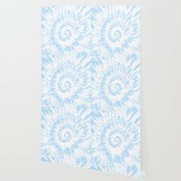 Lighter Ocean Blue Tie Dye Wallpaper