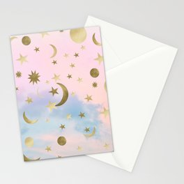 Pastel Starry Sky Moon Dream #1 #decor #art #society6 Stationery Cards