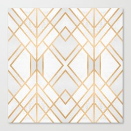 Golden Geo 2 Canvas Print