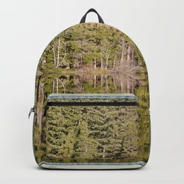 FOREST REFLECTIONS ON A MOUNTAIN LAKE Backpack