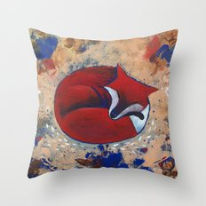 Sleeping Fox Throw Pillow