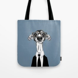 Greyhound in suit Tote Bag