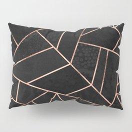 Velvet Black & Rose Gold Pillow Sham